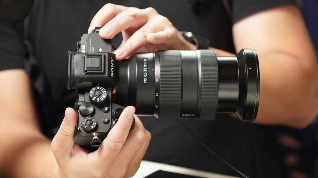 the man who is using sony a74